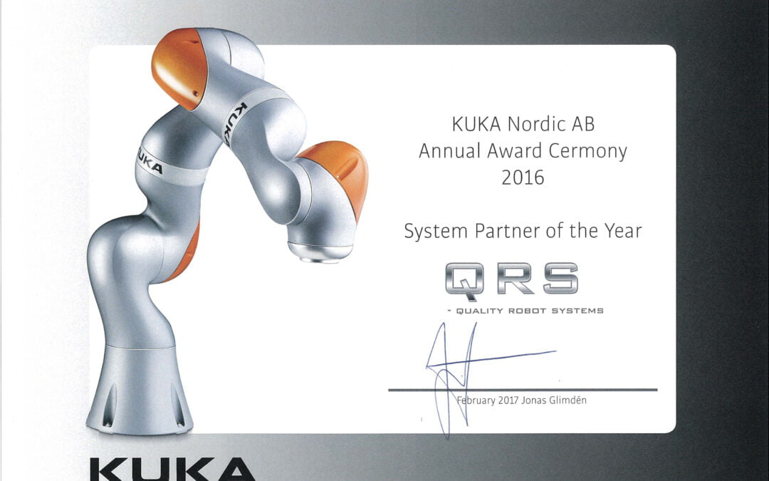 KUKA Systempartnerpris til QRS